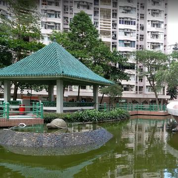 香港行政长官办公室新闻主任谭启耀4月4日于将军澳景林村景桃楼坠楼亡。 图为景林村景桃楼。(图片来源:Google Map)