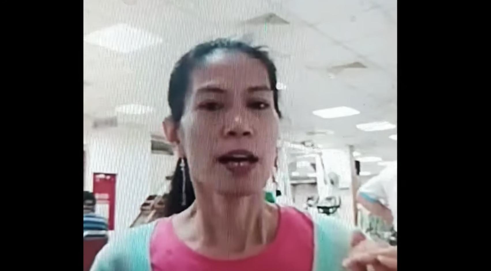 批评菲律宾总统杜特蒂的菲籍看护欧迪朵(图片来源:YouTube影片截图)