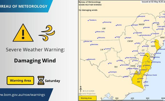 """澳洲气象预报显示,部分新州地区在经历大雨、雷暴和强风过后,将于本周末迎来""""极度寒冷""""的天气。(图片来源:Twitter)"""