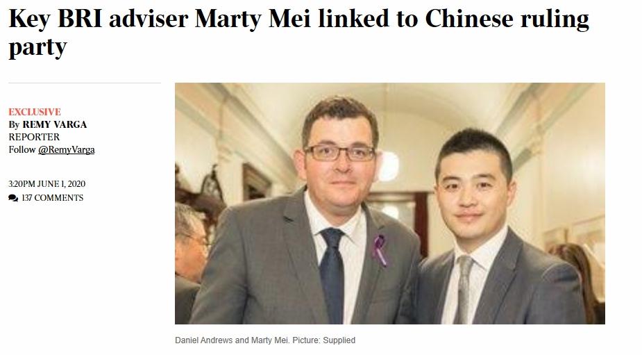 州长安德鲁斯高级顾问梅烝(Marty Mei)