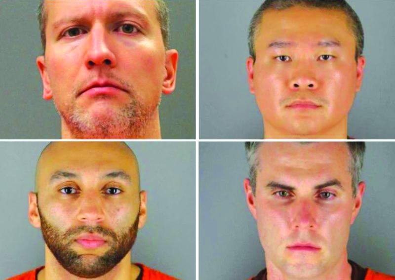 美国动乱 四名涉案警察被控重罪