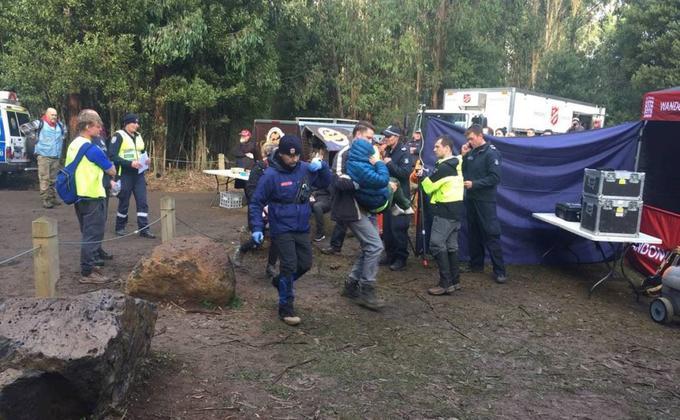 """搜救人员和志愿者们前往""""失望山""""寻找William Callaghan。(图片来源:Victoria Police脸书)"""