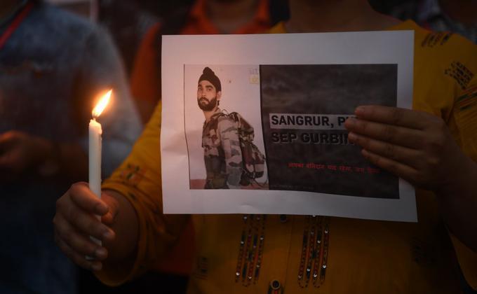 中印邊境部隊在拉達克地區邊境上的加勒萬河谷地區 再次發生暴力衝突。(图片来源:SAJJAD  HUSSAIN/AFP via Getty Images)